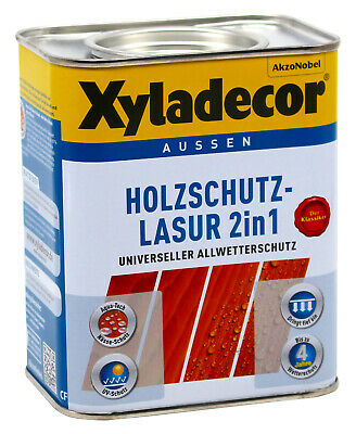 Xyladecor 2in1 Holzschutzlasur Eiche Hell 0 75l Eur 12 00