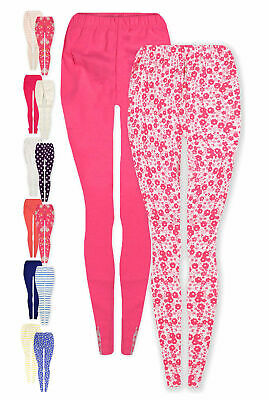 Girls 2 Pack Leggings Set New Kids Baby 2PSC 12 18 24 Months 1 2 3 4 5 6 7 Years
