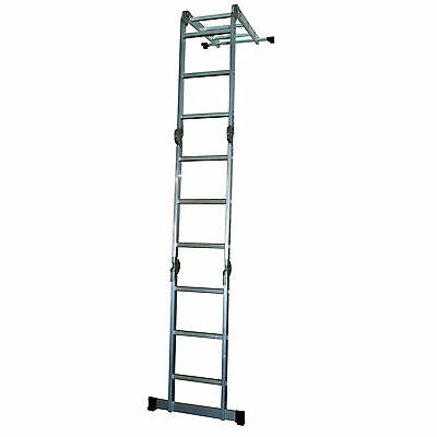 4x3 Step Multi Function / Purpose Folding 12 Steps Ladder with Platform 3.56m