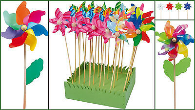 windmill flower garden flower box pretty colourful moves in the wind NEW