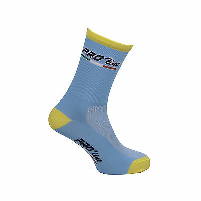 Calzini Ciclismo Proline Team Astana Cycling Socks 1 Paio One Size New Line