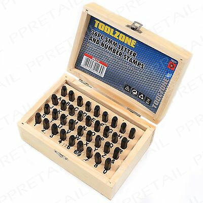 36Pc 5mm Alphabet & Number Name Personal Marking Tool Kit Letter Punch Stamp Set