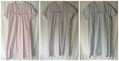 New Ladies Plus Sizes 10-30 Poly/Cotton Short Sleeve Nightdress Nighie *Marlon*
