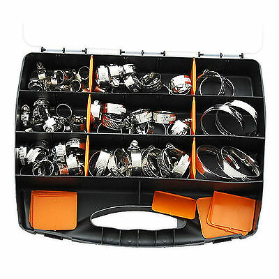 35PC Assorted Stainless Steel hose clamp set with driver- jubilee clip style set