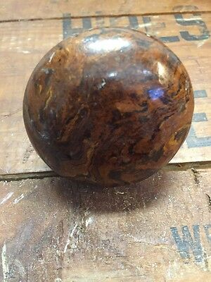 Bennington Door Knob Antique Brown Swirl Porcelain