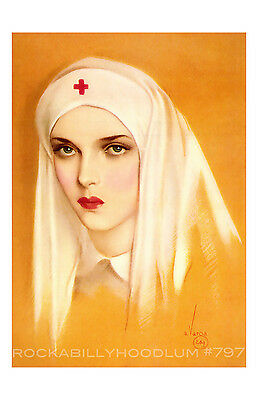 New Pin Up Girl Poster 11x17 Alberto Vargas Portrait of a Nurse