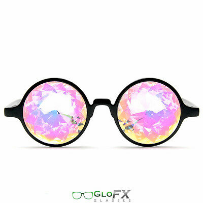 GloFX Black Kaleidoscope Glasses Rainbow Prism Refraction Rave Party Trippy