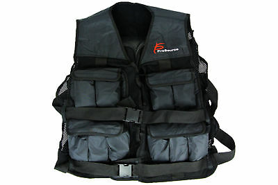 ProSource 20lb Weighted Unisex Workout Vest Training Fitness Adjustable Weight