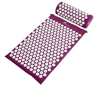 ProSource Acupressure Mat and Pillow Set Back Neck Pain Relief Muscle Relaxation