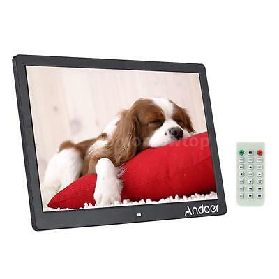 """15.6"""" LED Digital Photo Picture Frame Alarm Clock MP3/4 Movie Player Remote A9P3"""