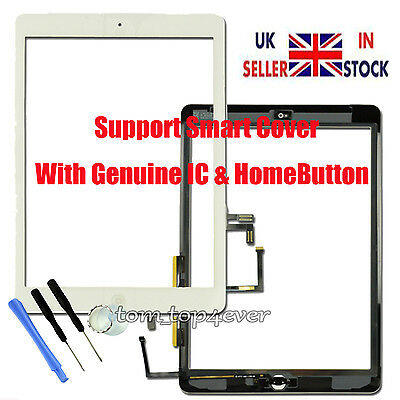 Touch Screen Digitizer Replacement For White Broken iPad Air 1 A1474 A1475 A1476