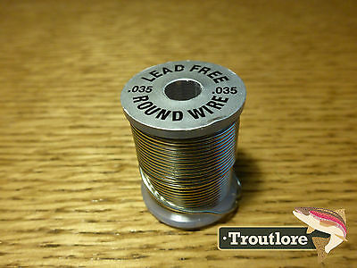Lead Free Round Wire Size .035 - Standard Spool - New Fly Tying Threads