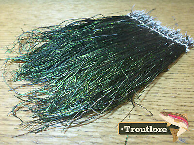 "Fly Tying Feathers - Peacock Hurl Strung 24 Inch Skirt Large Herl 4-7"" - New"