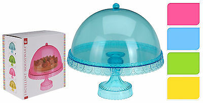 Candy Colours Plastic Cake Stand  Acrylic Dome Cup Cake Stand Cake Decorating