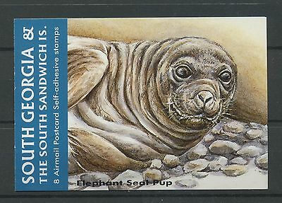 (W0227) South Georgia, Booklet Elephant Seal Pup, Um/mnh, See Scans