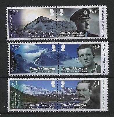 (W0229) South Georgia, Mountains 2012, Set In Pairs, Um/mnh, See Scan