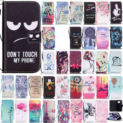 PU wallet cell phone case for Samsung galaxy S7 S7 edge pattened stand cover