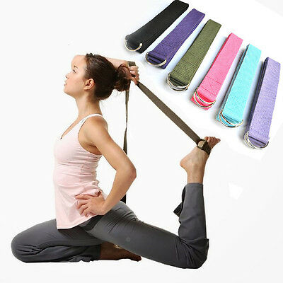 1pcs 180cm Yoga Stretch Strap D-ring Belt Stretching Adjustable Waist Gift