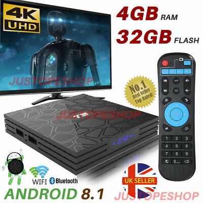 2019 T9 4GB+32GB Android 8.1 TV Box 4K Smart HD Media Player WI-FI Bluetooth NEW
