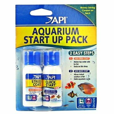 API AQUARIUM START UP PACK STRESS COAT QUICK TROPICAL FISH TANK TAP SAFE 30ml
