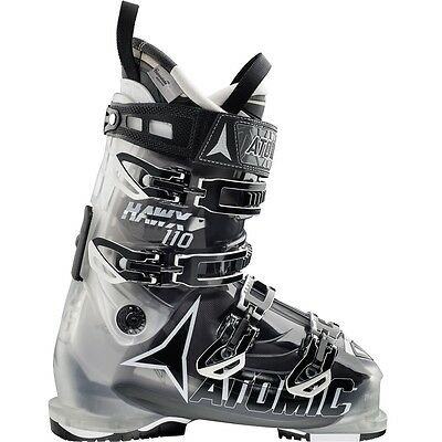 2016 Atomic Hawk 110 Crystal/Transparent Black Size 27.5 Men's Ski Boots