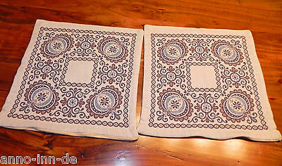 Tirol Tracht 2x Kissen Esszimmer pillow tablecloth Voglauer Alpen Bavaria Alps