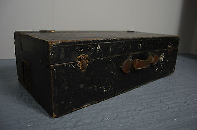 Antique Vintage Industrial Rustic Joiners Toolbox Chest Storage