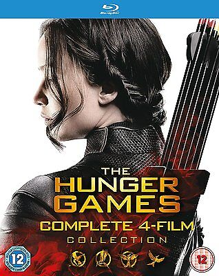 Hunger Games Complete Collection blu ray Box Set Catching Fire Mockingjay RB New