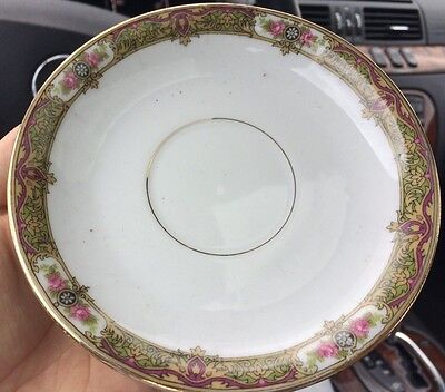 8 PCS Limoges UC Made in France China Saucers - 1908-1938