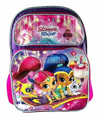 """New Shimmer and Shine 16"""" Large School Book Bag Backpack A07737"""