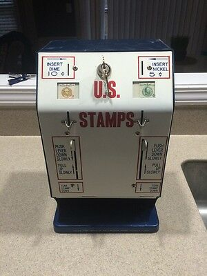 Vintage Rollvend U.S. Postage Stamp Vending Machine 5/10 Excellent Condition!