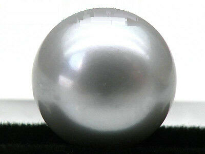 Genuine Natural 13mm AAA+++ Silver Gray Loose Half Drilled Bread pearl