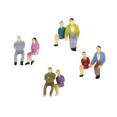 50x Painted Model Train Seated People Passengers Figures Layout 1:50 O Scale