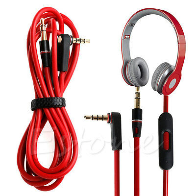 3.5mm L Jack Audio Cable Cord Wire Replacement for Beats Solo HD Studio Pro Mixr