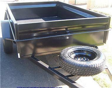 8x5   8 X 5 BOX TRAILER HEAVY DUTY H SIDES SEAM WELDED