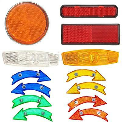 Cycle Road Bike Bicycle Reflector Light Reflective Strips Stick Front/Rear/Wheel