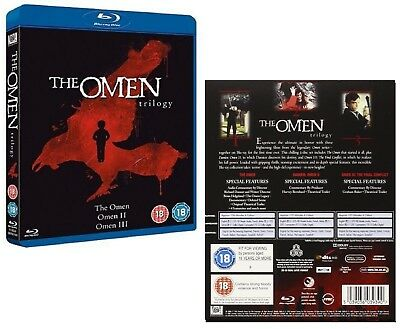 THE OMEN 1-3 TRILOGY (1976-1981): BLU-RAY - Damien  I, II, Final Conflict - NEW