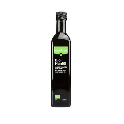 Effective Nature Bio Hanföl 500ml vegan vegetarisch Speiseöl Öl Omega-3 Omega-6