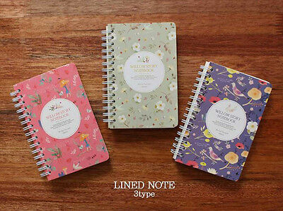 """Willow Story"" Spiral Coil Ruled Note book Sketchbook Diary Journal NotePad Memo"