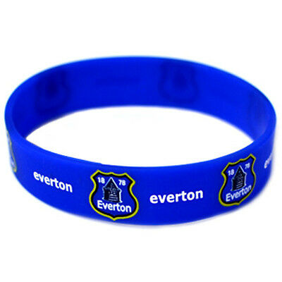 Official Licensed Football Club Everton Silicone Rubber Wristband Blue Gift New