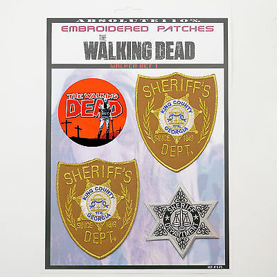 THE WALKING DEAD Sheriff Patch Set, Zombies, Rick - Iron-On Patch Mega Set #081