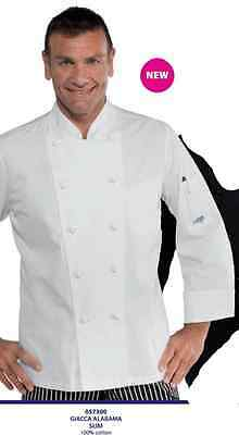 GIACCA CUOCO CHEF ISACCO ALABAMA SLIM 100% COT. JACKET MADE IN ITALY  Kochjacke 28b996202f7f