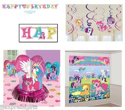 My Little Pony Birthday Pack (Banner, Wall Poster, Swirls & Table Decor Kit)