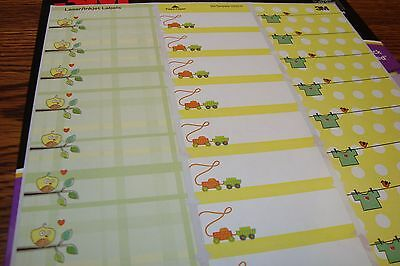 150 3M Fancy Designer Series Assorted Baby Address Labels DIY Laser/Inkjet