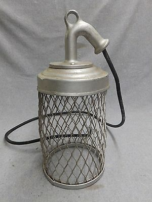 Vintage Industrial Cage Work Light Fixture Old Factory Steampunk 344-16