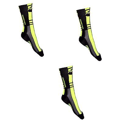 Kit Combo Calzini Ciclismo Proline Giallofne Cycling Socks 3 Paia One Size 39/46