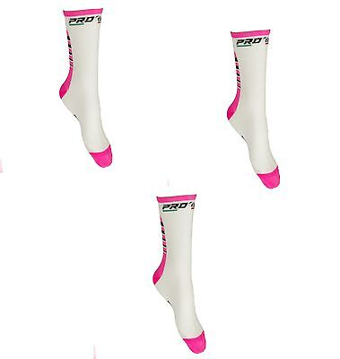 Kit Combo Calzini Ciclismo Proline Rosabia Cycling Socks 3 Paia One Size 39/46