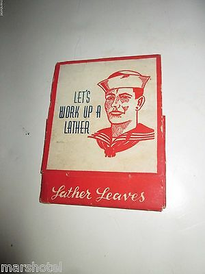 Vintage Lather Leaves Soap Papers In Matchbook Pack General Soap Co Us Navy