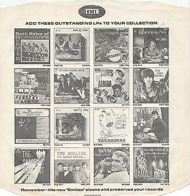 "Vintage INNER SLEEVE or SLEEVES 12"" EMI ADVERTISING PCM etc HERMAN'S HERMITS x 1"