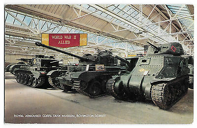Tank Museum Bovington, Postcard, Unposted, Cromwell, Lee, Comet, By J Salmon